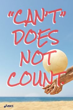 Can't does not count. #quote #fitspiration [Promotional Pin]