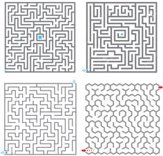 Illustration of Set of small labyrinth vector art, clipart and stock vectors. Minecraft House Plans, Minecraft Garden, Minecraft City, Minecraft Blueprints, Minecraft Designs, Minecraft Projects, Minecraft Crafts, Minecraft Memes, Minecraft Ideas