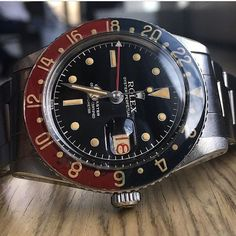Watches Ideas Rolex GMT Master 6542 Discovred by : Todd Snyder Rolex Watches For Men, Casual Watches, Sport Watches, Luxury Watches, Dream Watches, Men's Watches, Antique Watches, Vintage Watches, Rolex Vintage