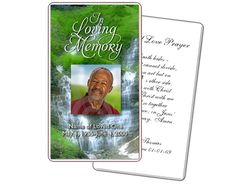 Funeral Prayer Cards: Majestic Large Prayer Card Template