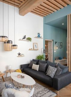 Home sweet home, place sathonay Marion LANOË ჭერი Colourful Living Room, Living Room Colors, Home Living Room, Living Room Decor, Home Interior, Interior Design Living Room, Interior Architecture, Architecture Portfolio, Sweet Home