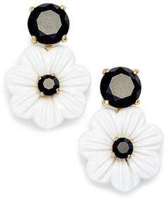 kate spade new york posy grove stud earrings Black And White Love, White Chic, Black White Fashion, White Gold, White Style, Rose Gold Earrings, Sterling Silver Earrings, Women's Earrings, Fashion Earrings