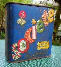 Societe Rainbow Bridge Mix Vintage Candy Tin Made by Imperial Candy Co. Seattle