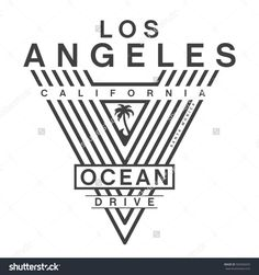 California ocean drive typography, tee shirt graphics, vectors
