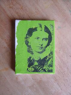 The Technique Zone: Acrylic Paint Transfer: Paint (canvas, wood, paper.) with acrylic paint. Put picture on the wet paint. carefully wet paper and rub away the paper. Crafty Projects, Art Projects, Transférer Des Photos, Diy Foto, Photo Transfer, Transfer Paper, Ink Transfer, Using Acrylic Paint, Photo Craft