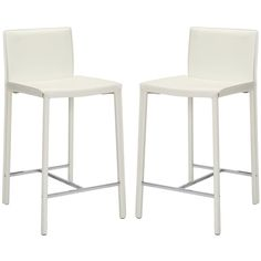 Safavieh Park Ave White Leather Counter Stools (Set of - Overstock™ Shopping - Great Deals on Safavieh Bar Stools White Counter Stools, Leather Counter Stools, Black Bar Stools, White Counters, 30 Bar Stools, Bar Counter, Island Stools, Kitchen Island, Counter Chair