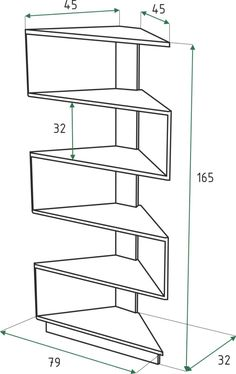 Desktop Book Shelf Made of Oak Corner Shelf Design, Bookshelf Design, Wall Shelves Design, Bookshelves, Corner Furniture, Home Decor Furniture, Furniture Projects, Furniture Design, Diy Home Crafts