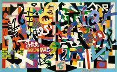 Stuart Davis   The Mellow Pad   1945-51 (180 Kb); Oil on canvas, 26 x 42 in; Brooklyn Museum, New York Lowenthal, New York