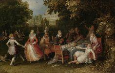Garden Party (Fête Champêtre) by David Vinckboons, 1610. Rijksmuseum, Public Domain