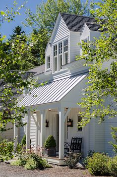Front Porch. Front Porch with Metal Roof. Front Porch #FrontPorch Banks Design Associates, LTD & Simply Home
