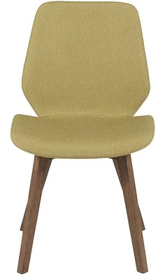 Eurø Style Beckett Upholstered Side Chair with Walnut Finished Legs, Set of 2, Avocado Green Best Price