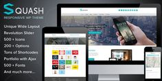 Squash Creative Portfolio WordPress Theme Themeforest