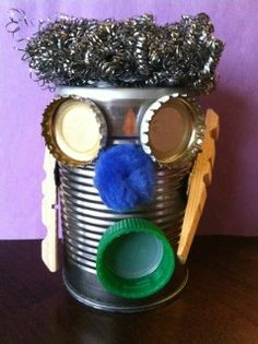 Mr. Robot Head...make a misbehaving recycled robot...poem and craft!!