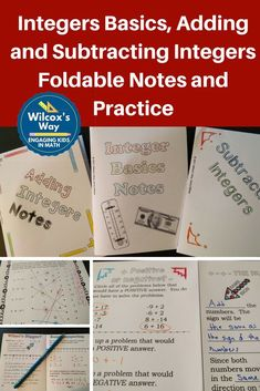 Add and subtract integers, absolute value and more in these foldable notes. Adding And Subtracting Integers, Seventh Grade Math, Teaching Secondary, Math Notebooks, Math For Kids, Middle School, Plane, Classroom Ideas, Rational Numbers