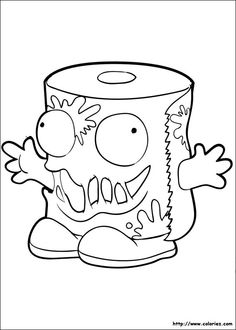 Trash pack coloring page