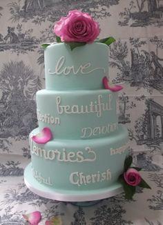 Round Wedding Cakes - Heartfelt words
