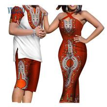 Online Shop Summer African Print Top and Pants Sets for Couple Clothing Bazin Riche Sweet Flower Patter 2 Pieces Lover Couples Clothes Latest African Fashion Dresses, African Dresses For Women, African Print Dresses, African Head Scarf, Head Wraps For Women, African Print Jumpsuit, Traditional African Clothing, Pantalon Long, Style Africain