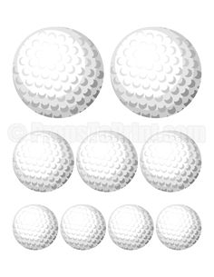 Printable golf ball photo booth prop. Create DIY props with our free PDF template at http://propstoprint.com/download/golf-ball-photo-booth-prop/