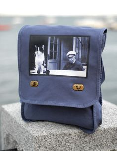 Messenger Bag - The Old Man and the Sea Cat - Vintage Photo - Field Bag. $25.00, via Etsy.