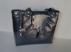 Dark blue diaper bags, women hobo bag, women bag, handmade bag, unique appearance, natural patent leather, natural leathers, houlder bag by Malikdesign on Etsy