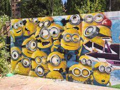 Los minions (Madrid) Street art