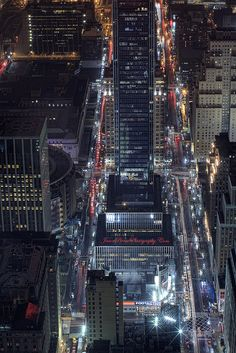 NYC. Night scene, Madison Square Garden on the left // by Jason Pierce Photography, via Flickr