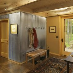 Corrugated Metal Wall Design, Pictures, Remodel, Decor and Ideas - page 4