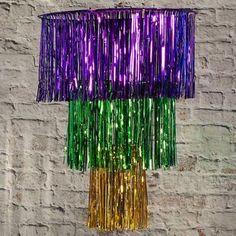 Mardi Gras Chandelier, Multicolor