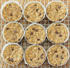 Breakfast Oatmeal Cupcakes to Go by Chocolate Covered Katie. With these portable baked oatmeal cupcakes, you cook just once, and you get a delicious breakfast for the entire month! Oatmeal Cupcakes, Breakfast Cupcakes, What's For Breakfast, Breakfast Dishes, Breakfast Recipes, Oatmeal Muffins, Breakfast Muffins, Health Breakfast, Vegan Breakfast