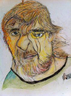 Outsider Art 'My Grandpa was a Viking' 2012 by katarinathorsen, $340.00