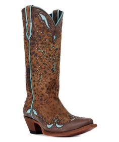 Love this Johnny Ringo Boots Tan Cheetah Leather Cowboy Boot - Women by Johnny Ringo Boots on #zulily! #zulilyfinds