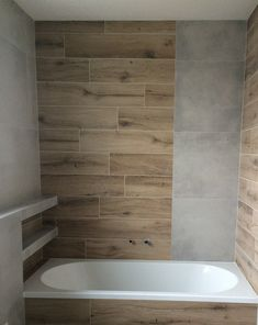 Wooden decor bathroom Wooden Decor, Bathrooms, Bathtub, Standing Bath, Bathtubs, Bathroom, Full Bath, Bath Tube, Bath