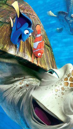 WALLPAPER FINDING NEMO DISNEY PIXAR ILLUST SEA ANIMALS WALLPAPER HD IPHONE