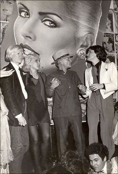 Warhol, Blondie, Truman Capote and Paloma Picasso at Studio 54
