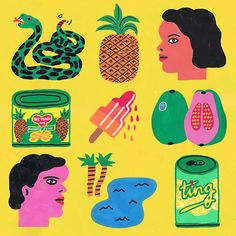 Stephanie Unger's instinctive illustrations use bright colours and simple shapes Graphic Art, Graphic Design, Art Et Illustration, Graffiti, Art Graphique, Illustrations And Posters, Art Design, Oeuvre D'art, Collage Art