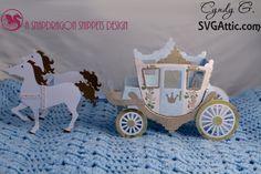 Horse drawn carriage SVG Attic - JGW Off to the Ball #svg #svgattic