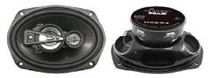 Lanzar MX694 6'' x 9'' 680 Watts 4 Way Coaxial Speaker by Lanzar. $37.99. Standard 6'' X 9'' Size Fits OEM Locations High Quality Injection Cone   Non-Fatiguing Butyl Rubber Surround   2.5'' Polymer Cone Midrange   2 x 1'' Titanium Dome Tweeter   1.25'' High Temperature Aluminum Voice Coil   Glossy Black Steel Basket   60 Oz Magnet Structure   Power Handling: 340 Watts RMS / 680 Watts Peak   Frequency Response: 40-22KHz   Impedance: 4 Ohms   Mounting Depth: 3.39''   I...