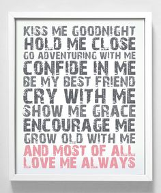 'Love Me Always' Print