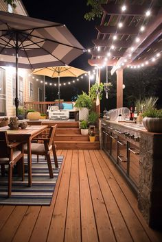 DIY outdoor kitchen you want to see! - - - DIY outdoor kitchen you want to see! – – DIY outdoor kitchen you want to see! Modern Outdoor Kitchen, Outdoor Kitchen Bars, Backyard Kitchen, Kitchen On A Budget, Backyard Patio, Outdoor Living, Outdoor Decor, Patio Stairs, Small Outdoor Kitchens