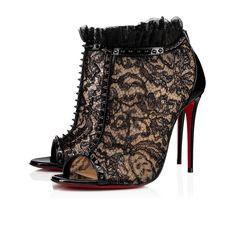 b5a4add3ce0e Juliettra 100 Version Black Dentelle Gloss - Women Shoes - Christian  Louboutin