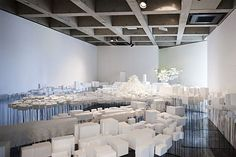 藤本壮介氏の個展「山のような建築 雲のような建築 森のような建築」