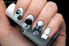 Decoración de uñas Totoro