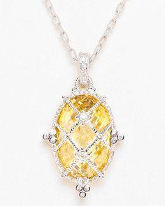 Judith Ripka Silver Crystal & Sapphire Enhancer