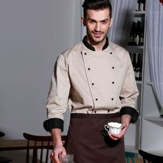 0 buy 1 product on alibaba restaurant uniforms - Christmas-Desserts Chef Uniforms, Work Uniforms, Waiter Uniform, Men In Uniform, Hotel Uniform, Restaurant Uniforms, Uniform Design, Nursing Clothes, Blazers