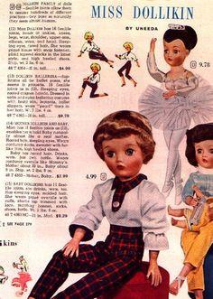 Uneeda Dollikin advertisement vintage doll