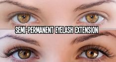 Eyelash Extensions are enhancements designed to add length, thickness and fullness to natural eyelashes to achieve a beautiful full luscious and long set of lashes that are natural and you won't even know they are there.They can be separated into two types: temporary (two weeks) and semi-permanent (up to 8 weeks). Eyelash Extensions Reviews, Types Of Eyelash Extensions, Semi Permanent Eyelash Extensions, Semi Permanent Eyelashes, Permanent Eyeliner, Diy Skin Care, Skin Care Tips, Cosmetic Tattoo, Anti Aging Tips