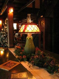 The Stickley Museum at Craftsman Farms: Living Room: Grueby Lamp