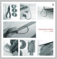 Nekota Bact's sketch — masking tape mobile making マスキングテープで作ったモビール ...