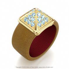 Aquamarine Ring #Leather