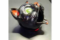 """Black Cat"" Smoker Ashtray"